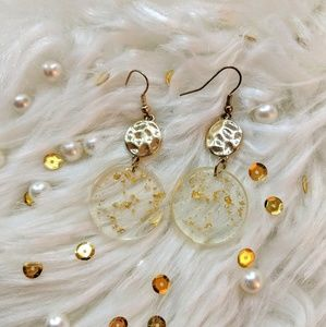 CUTE Circle with Gold Pieces❤️ NEW ❤️BOUTIQUE❤️